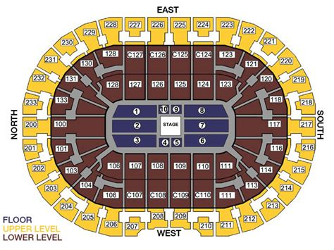 Cavs Floor Box Seats by Seating Charts Quicken Loans Arena Official Website