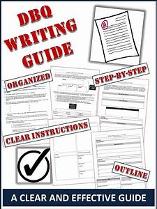 Dbq Writing Guide  A Clear 5 Page  Step