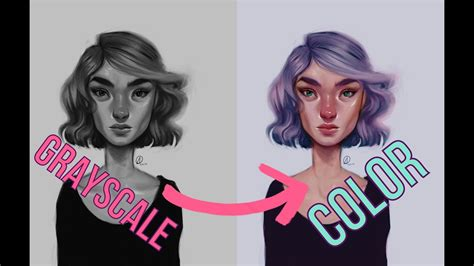 digital art grayscale  color tutorial youtube