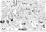Doodle Coloring Doodling Kawaii Characters Very Happy Rachel Together Many Adults Pages Adult Artist sketch template