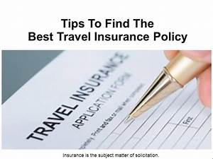 Tips to Find the Best Travel Insurance Policy