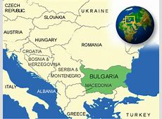 Map of Bulgaria Terrain, area and outline maps of