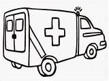 Ambulance Coloring Pages Realistic Gambar Printable Mewarnai Titan Posted Books sketch template