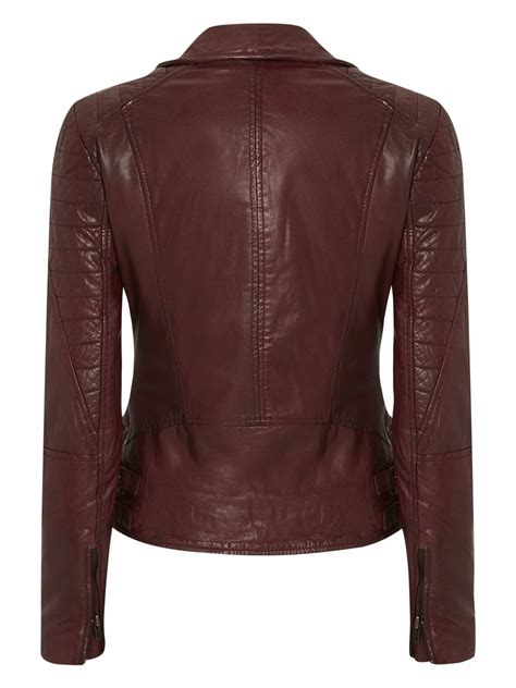 red leather motorcycle jacket ollon red leather biker jacket