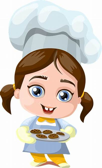Cooking Woman Cook Kid Child Cookies Transparent