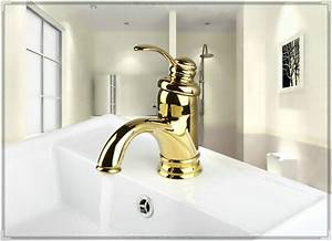 Ti pvd bathroom faucet gold color single handle sink mixer for Gold bathroom sink taps