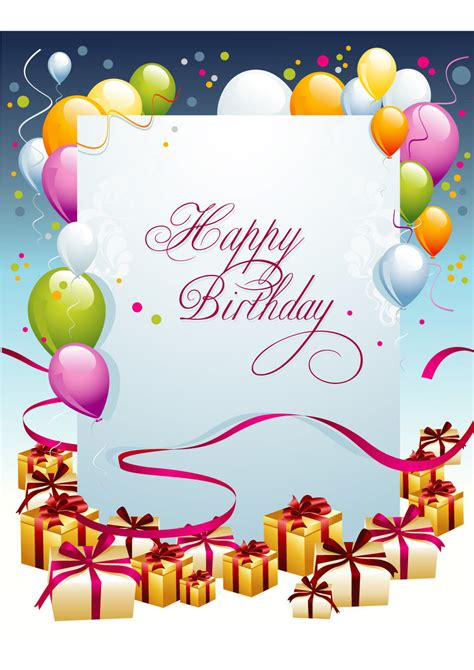 birthday card templates templatelab