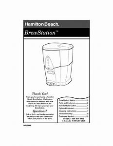 Hamilton Beach Instruction Manual Sample Pdf