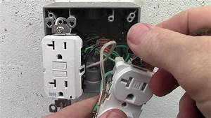 How To Wire A Double Receptacle With 20 Amp Gfci Weather