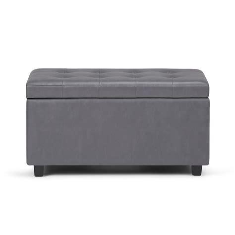 grey ottoman bench simpli home cosmopolitan grey medium storage ottoman