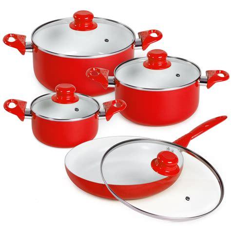 pots cuisine 8 ceramic cooking pots lids pan pot saucepan