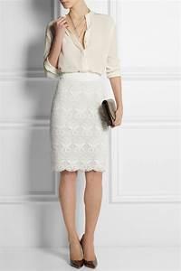 White Lace Pencil Skirt   Jill Dress