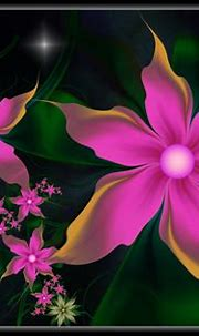 Abstract Pink Flowers HD Wallpaper | Background Image ...