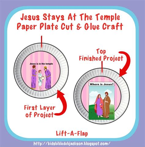 bible for jesus stays at the temple projects 477 | 4. paper plate project button crop