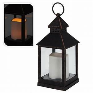 Lanterne De Noel : lanterne de no l tha s noir led d co de table lumineuse eminza ~ Teatrodelosmanantiales.com Idées de Décoration