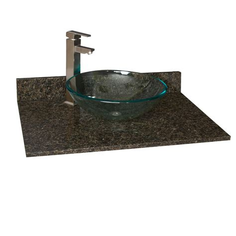 31 vanity top with sink 31 quot x 22 quot granite vessel sink vanity top bathroom