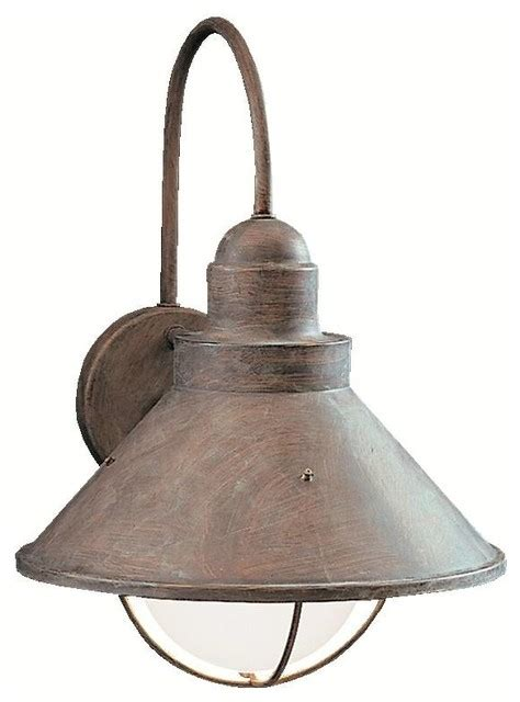kichler seaside outdoor wall mount light fixture in olde