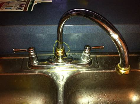 kitchen faucet leak moel kitchen faucet leaking at the base