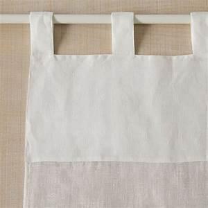 Rideau Blanc Cassé : image 4 du produit rideau lin blanc cass rideaux pret poser voile de lin blanc pinterest ~ Teatrodelosmanantiales.com Idées de Décoration