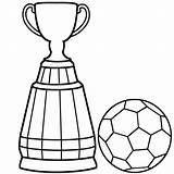 Soccer Coloring Ball Pages Trophy Cup Colouring Drawing Easy Print Player Trophies Clipart Clip Boys Getdrawings Steps Clipartmag sketch template