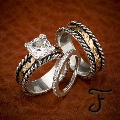 incredible western wedding ring sets matvuk com