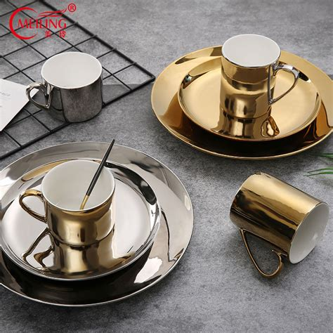 china gold bone dinnerware plate dinner plates kitchen luxury tableware dish nordic silver decorative ceramic sets wedding garden