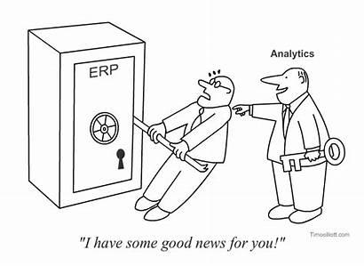 Funny Analytics Erp Cartoons Sap Key Friday
