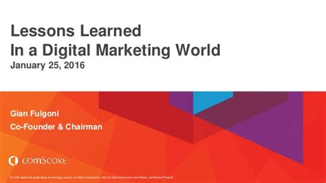 digital marketing lessons lessons learned in a digital marketing world