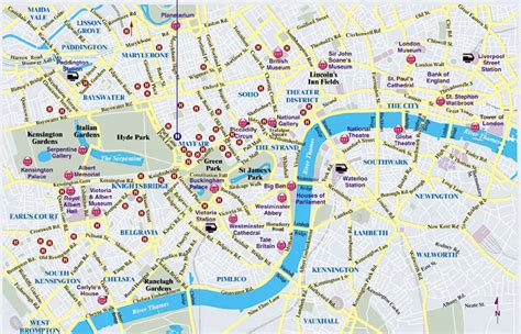 central london city map map  london political regional