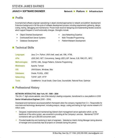 Software Developer Resume Exles by Software Developer Page1 It Resume Sles Free Resume