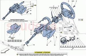 Ferrari 488 Spider Steering Control Parts