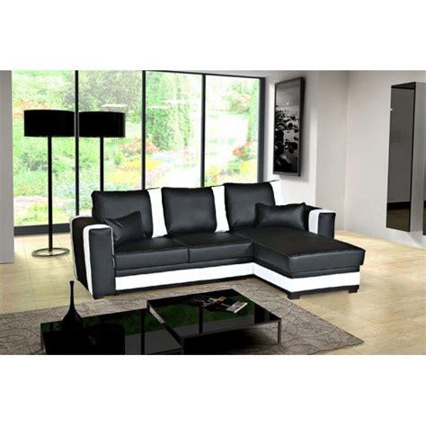 canapé convertible moderne canape d angle convertible noir et blanc maison design