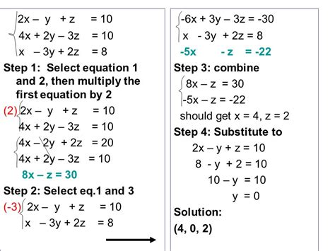 systems of equations with 3 variables word problems worksheet 3 5 solving systems of equations in 3 variables ppt