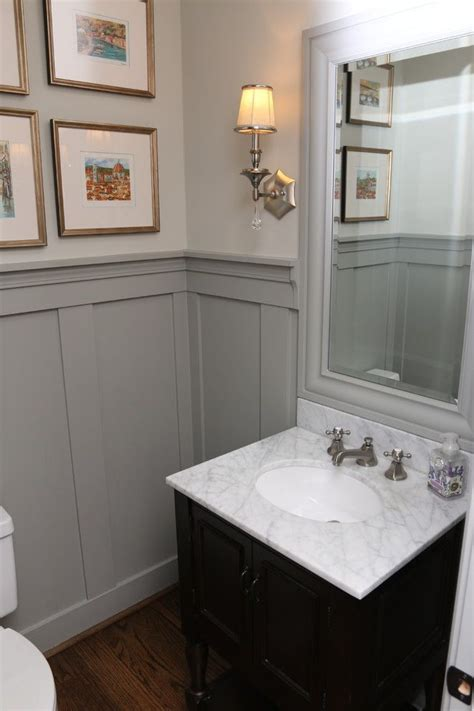 Bathroom Paneling Ideas by Image Result For Gray Half Wall Paneling Downstairs