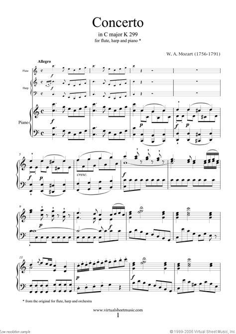 mozart flute harp concerto   major  sheet