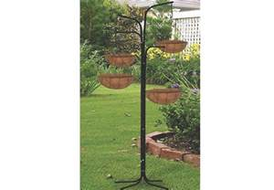 new garden 4 arm cascade hanging tree planter basket patio