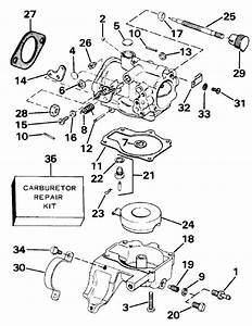 Johnson Carburetor Parts For 1984 25hp J25rcrd Outboard Motor