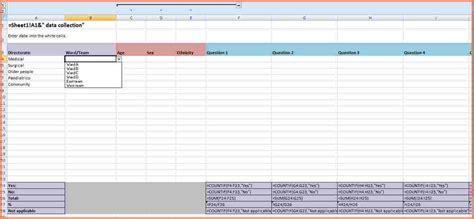 6 data spreadsheet template excel spreadsheets