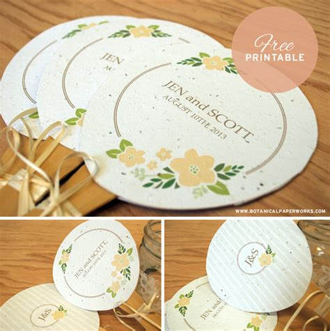 printable personalized wedding paper fans blog