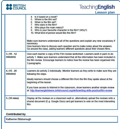 Council Lesson Plan Template by Tkt Lesson Plan Exle From The Council