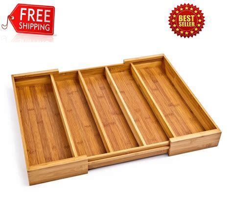 wood kitchen drawer organizers kitchen drawer organizer utensil wood cutlery holder 1590