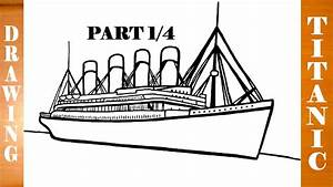 How to Draw TITANIC Ship Step by Step Easy for Kids in ...