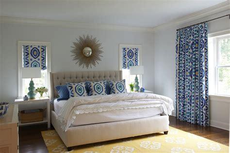 ikat window panels contemporary bedroom nightingale design