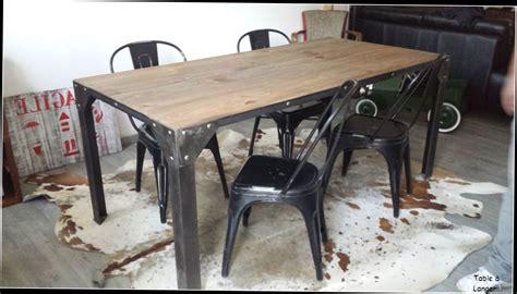 table cuisine style industriel galerie avec beau table de