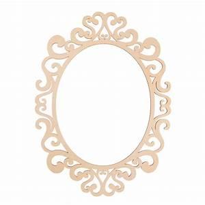 "Fancy Oval Laser Cut Wood Frame by ArtMinds®, 11"" x 14"""