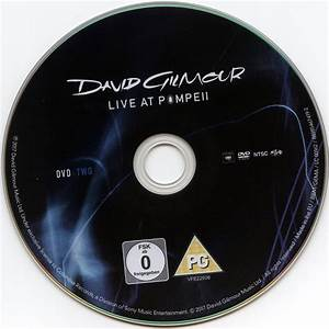 David Gilmour Live at Pompeii (2017) R2 UK DVD Cover ...