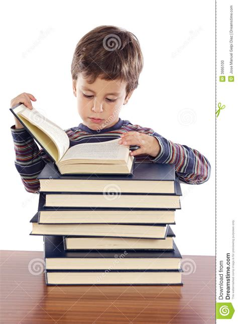 adorable child studying stock photo image