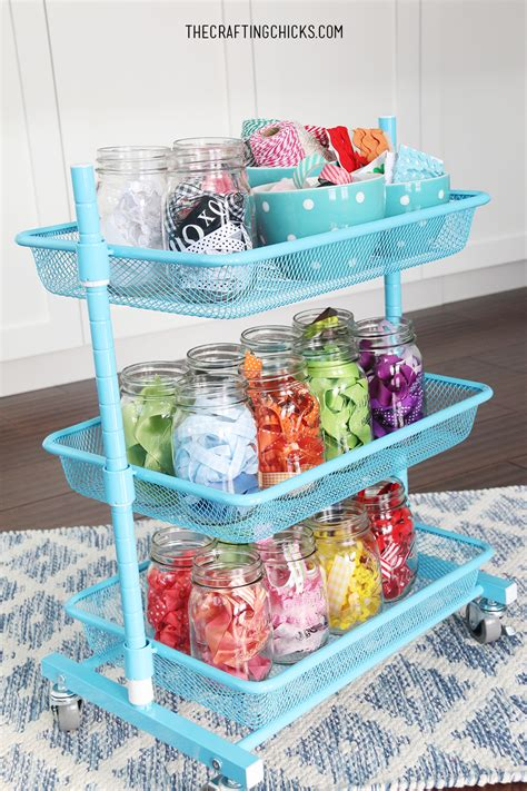 dresser and hutch creative thrifty small space craft room organization