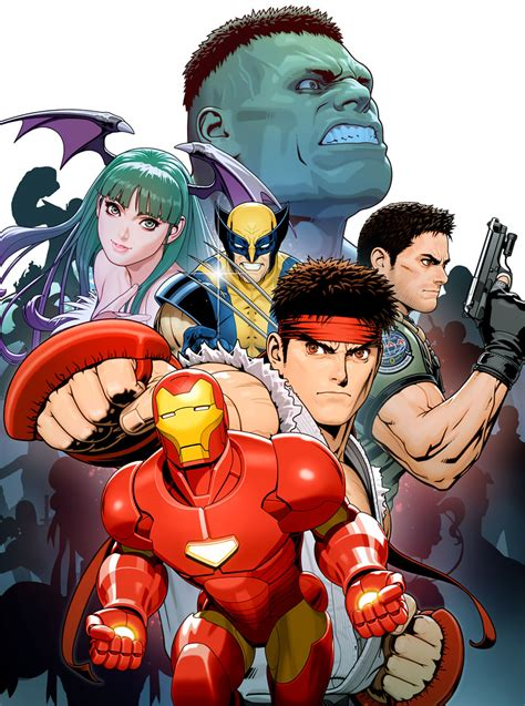 character poster art marvel  capcom  art gallery
