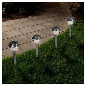 led solar classic glass pathway lights set of 6 pure With target outdoor lights on sale